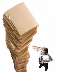College Applications piled high