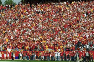 College Students in stands